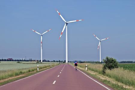 windfarm on road